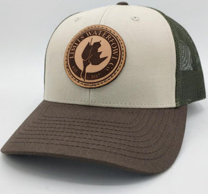Leather Patch Logo Trucker-tri color-hat-Limits Waterfowl Co.-Limits Waterfowl Co.