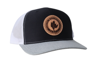 Logo Trucker Hat-Gray/NAVY/White-hat-Limits Waterfowl Co.-Limits Waterfowl Co.