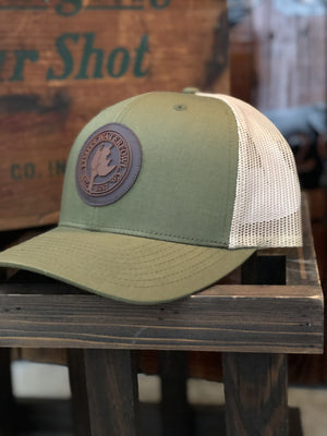 Moss Green/Khaki PVC Logo Patch-hat-Limits Waterfowl Co.-Limits Waterfowl Co.