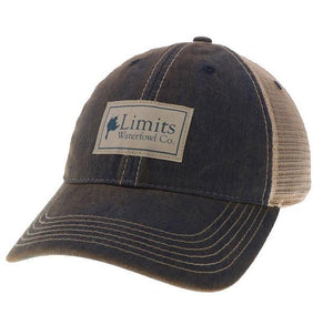 Navy Twill Patch Trucker-hat-Limits Waterfowl Co.-Limits Waterfowl Co.