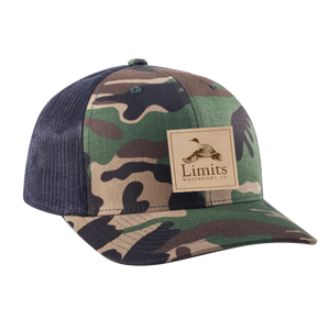 Pintail Leather Patch Camo/Black-hat-Limits Waterfowl Co.-Limits Waterfowl Co.