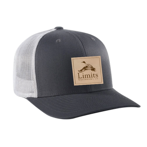 Pintail Leather Patch Charcoal/Gray-hat-Limits Waterfowl Co.-Limits Waterfowl Co.