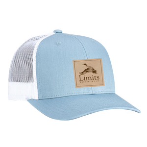 Pintail Leather Patch Smoke Blue-hat-Limits Waterfowl Co.-Limits Waterfowl Co.