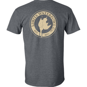 Signature Logo Tee(Multiple Color Options-shirt-Limits Waterfowl Co.-Small-Dark Heather-Limits Waterfowl Co.