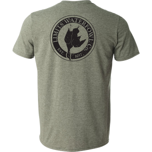 Signature Logo Tee(Multiple Color Options-shirt-Limits Waterfowl Co.-Small-Heather Military Green-Limits Waterfowl Co.