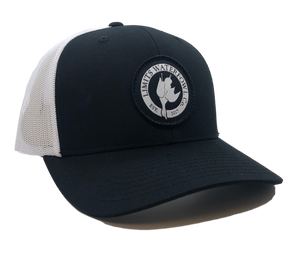 Woven Signature Logo-Black/White-hat-Limits Waterfowl Co.-Limits Waterfowl Co.