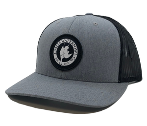 Woven Signature Logo-Gray/Black-hat-Limits Waterfowl Co.-Limits Waterfowl Co.