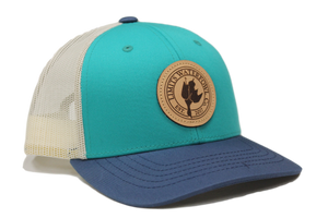 Youth Leather Patch Logo Hat-Teal-hat-Limits Waterfowl Co.-Limits Waterfowl Co.