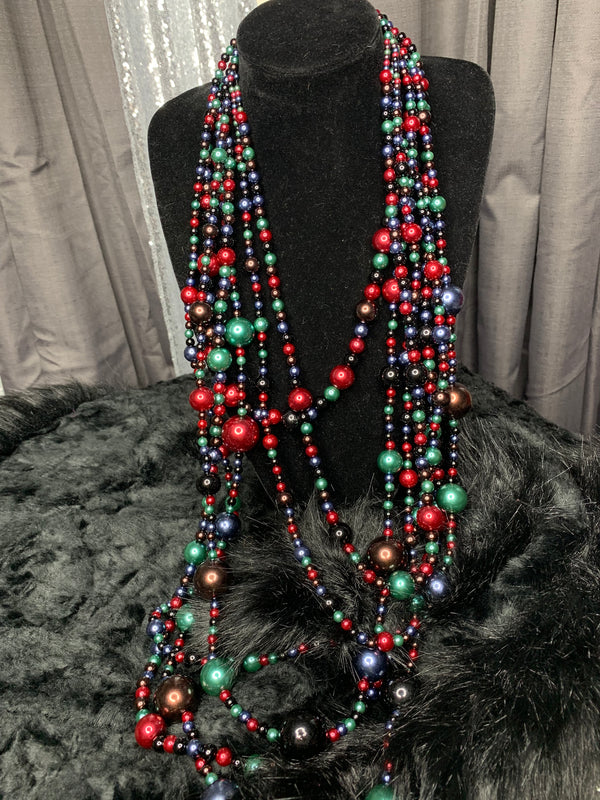 Retro Pearl necklace and earrings set