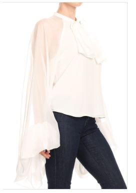 Overstated Sheer Sleeve Top
