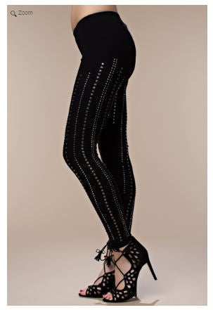 Line Studded Leggings