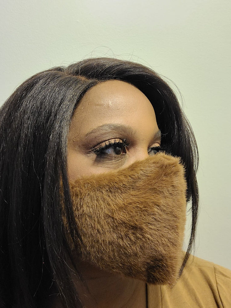 Faux Fur Mask