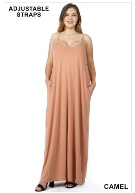 Spaghetti Strap Maxi Dress Plus Size