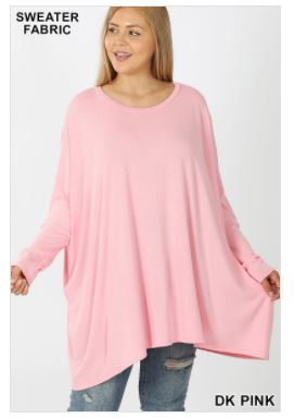 Oversized Round Neck Top