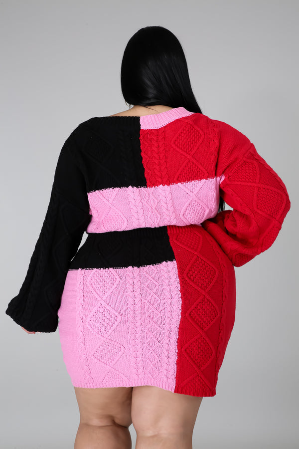 Color Block Sweater 2 PC Set