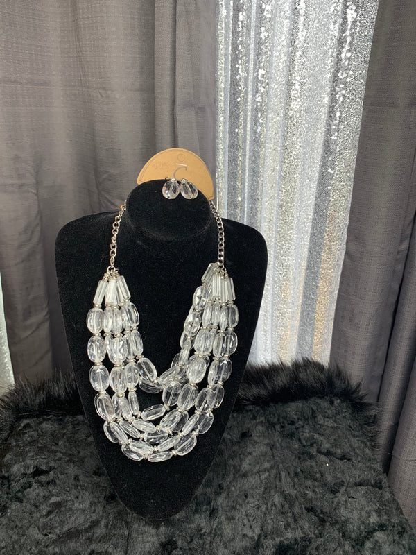 Ice on my baby necklace and earrings set
