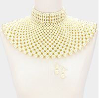 Pearl Bib choker necklace