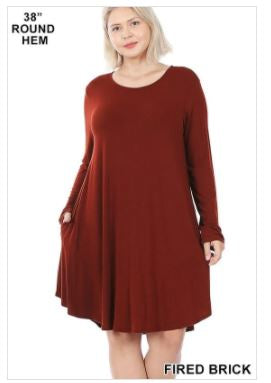 Long Sleeve ALine Dress
