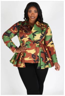 Girl's Club Camo Jacket