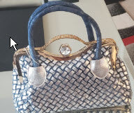 Denim Rhinestone Handbag