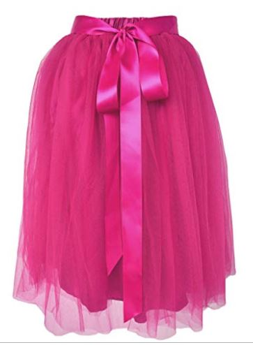 Knee Length Tulle Skirt