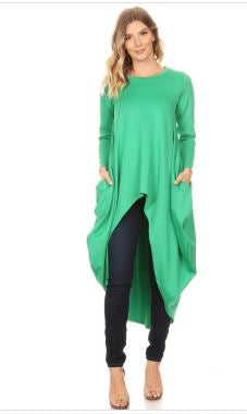 Hi Low Long Sleeve Top