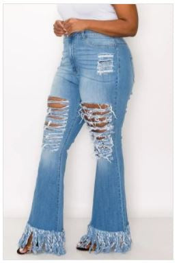 High Rise Skinny Flare jeans