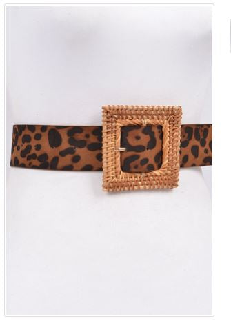 Square Twined Buckle Belt