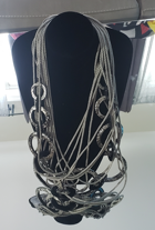 Gray Cord Necklace