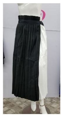 Two Toned Pleated Wrap Skirt
