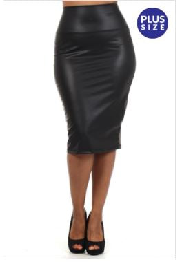 Aryonna Liquid Pencil Skirt