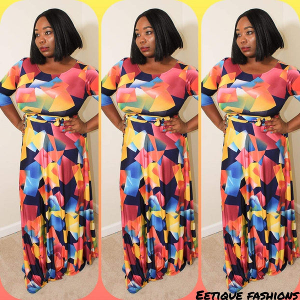 Square Biz Maxi Dress