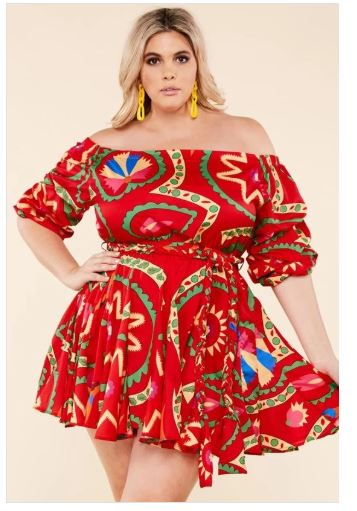 Red Abstract Dress