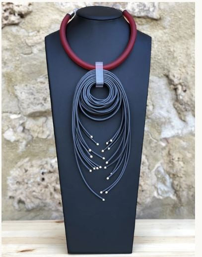 Red and Gray Designer Necklace