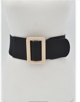 Pearl Rectangle Belt