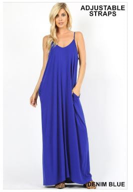 Spaghetti Strap Maxi Dress Regular Size