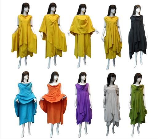 Gauze Cotton Multiple Dress