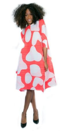 Lightweight Coral Print Dress