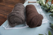 Columbia Wool Roving - dark brown
