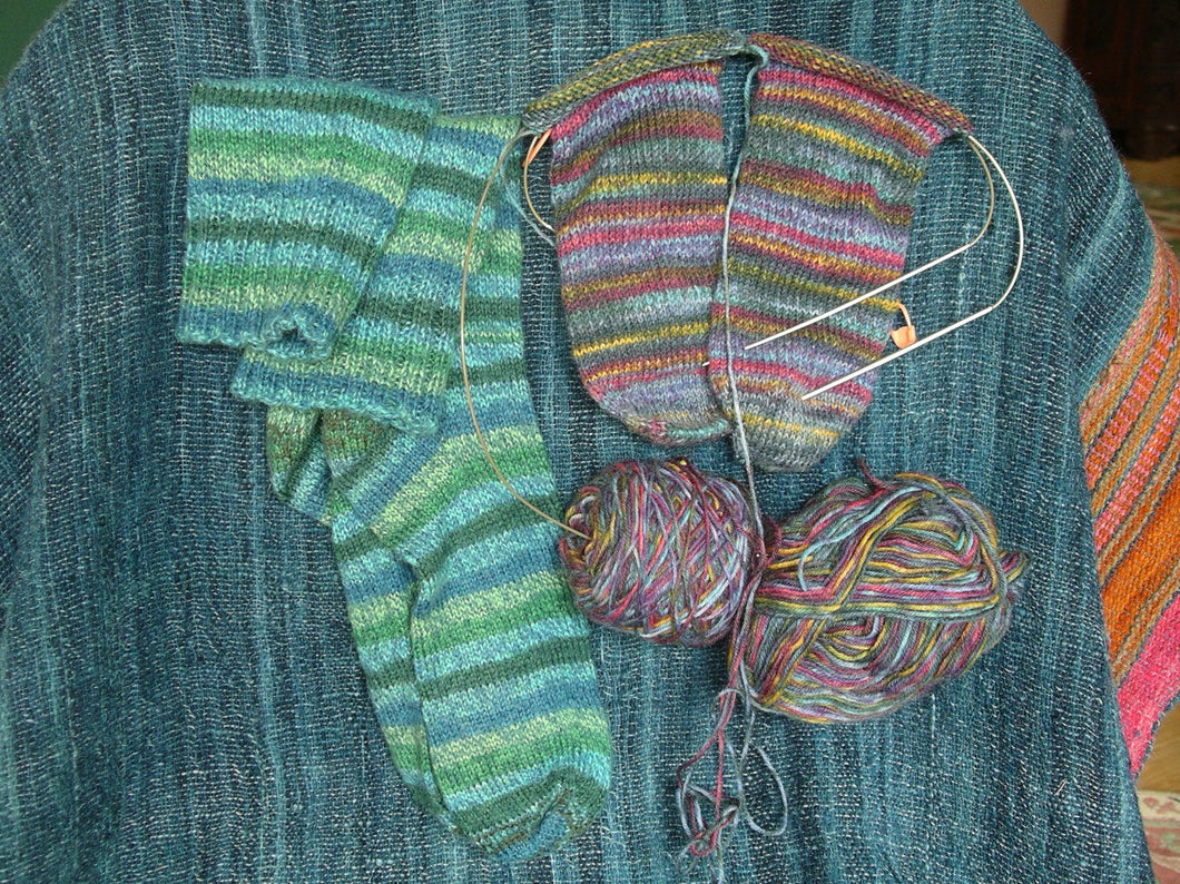 Knitting Socks 2 at a Time and Toe Up! TBD