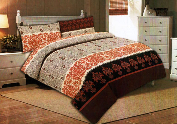 500 THREAD COUNT 100% LUXURY COTTON PRINTED QUILT COVER SET WITH PILLOW CASES - Next Linen