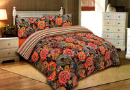 100% LUXURY COTTON 500 THREAD COUNT PRINTED QUILT COVER SET WITH PILLOW CASES