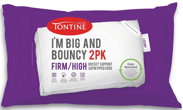 TONTINE I'M BIG & BOUNCY FIRM & HIGH PILLOWS X 2 - Next Linen