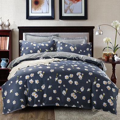 500 THREAD COUNT POLYESTER COTTON PRINTED QUILT COVER SET WITH PILLOW CASES - Next Linen