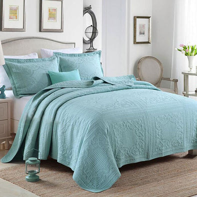 100% COTTON SUPER SOFT BEDSPREAD QUEEN SIZE - Next Linen