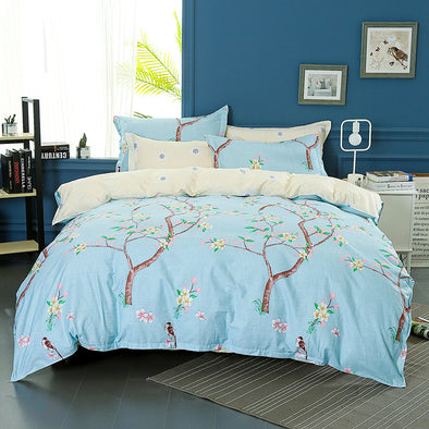 400 THREAD COUNT 100% COTTON PRINTED QUILT COVER SET WITH PILLOW CASES - Next Linen