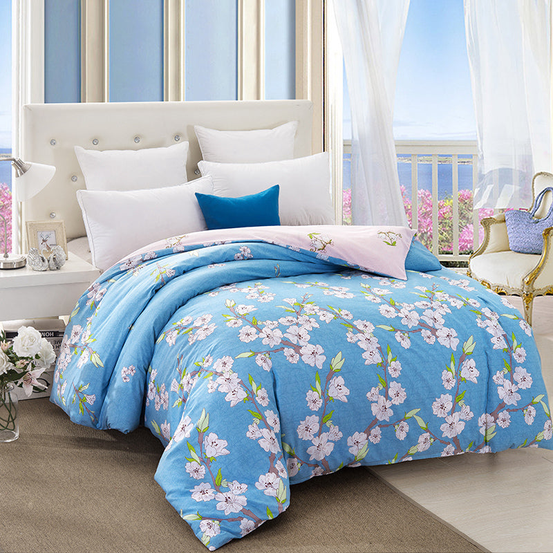 400 Thread Count 100 Cotton Printed Quilt Cover Set With