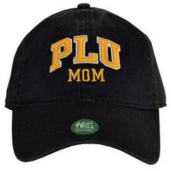 BLACK HAT WITH GOLD PLU MOM LETTERING