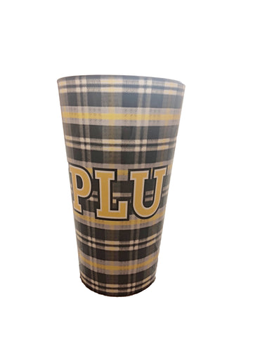 TARTEN PLAID PINT GLASS BLOCK PLU