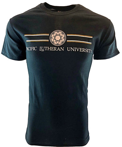 ROSE WINDOW LINES PACIFIC LUTHERAN UNIVERSITY BLACK TEE